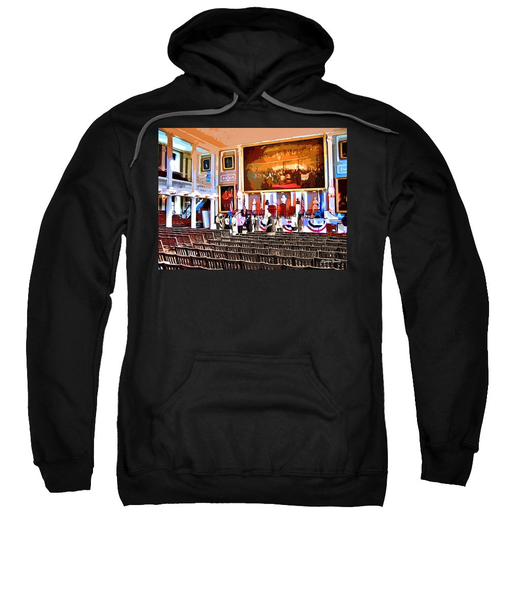 Faneuil Hall Sweatshirt featuring the digital art Faneuil Hall by Stephen Younts