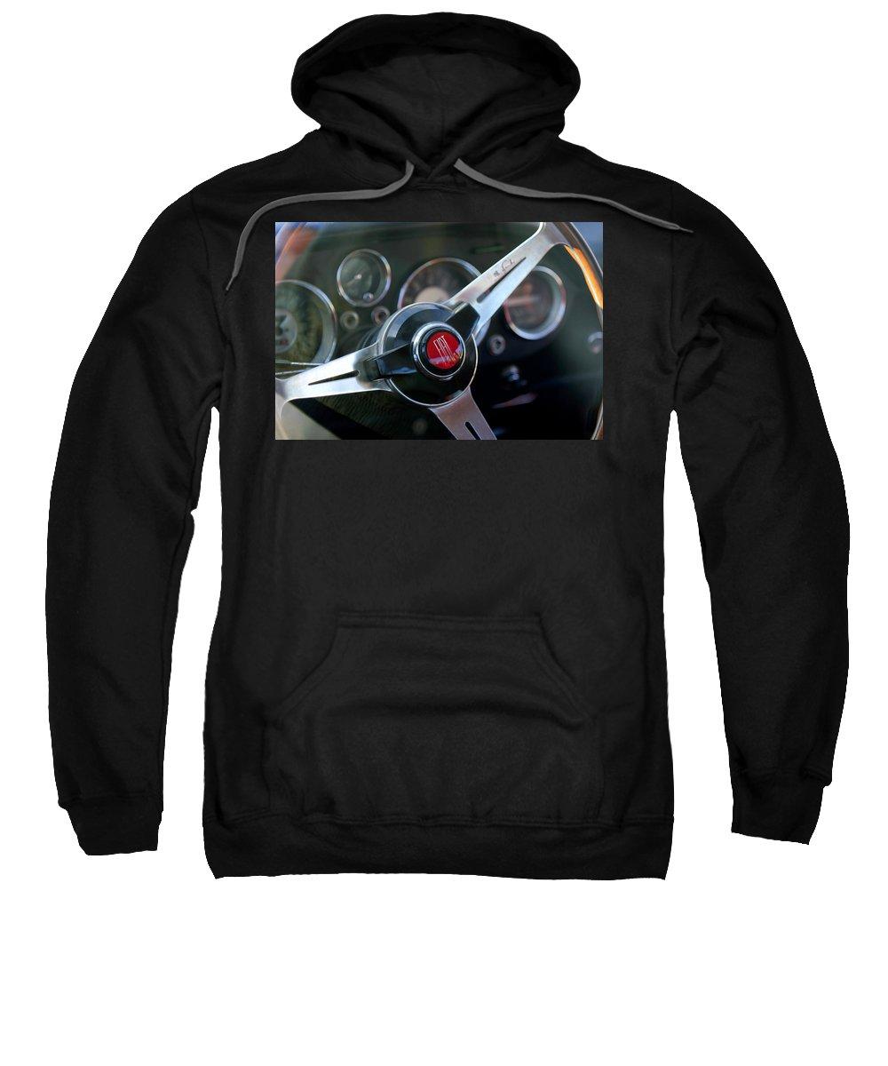 Fiat Sweatshirt featuring the photograph Fiat Steering Wheel by Jill Reger