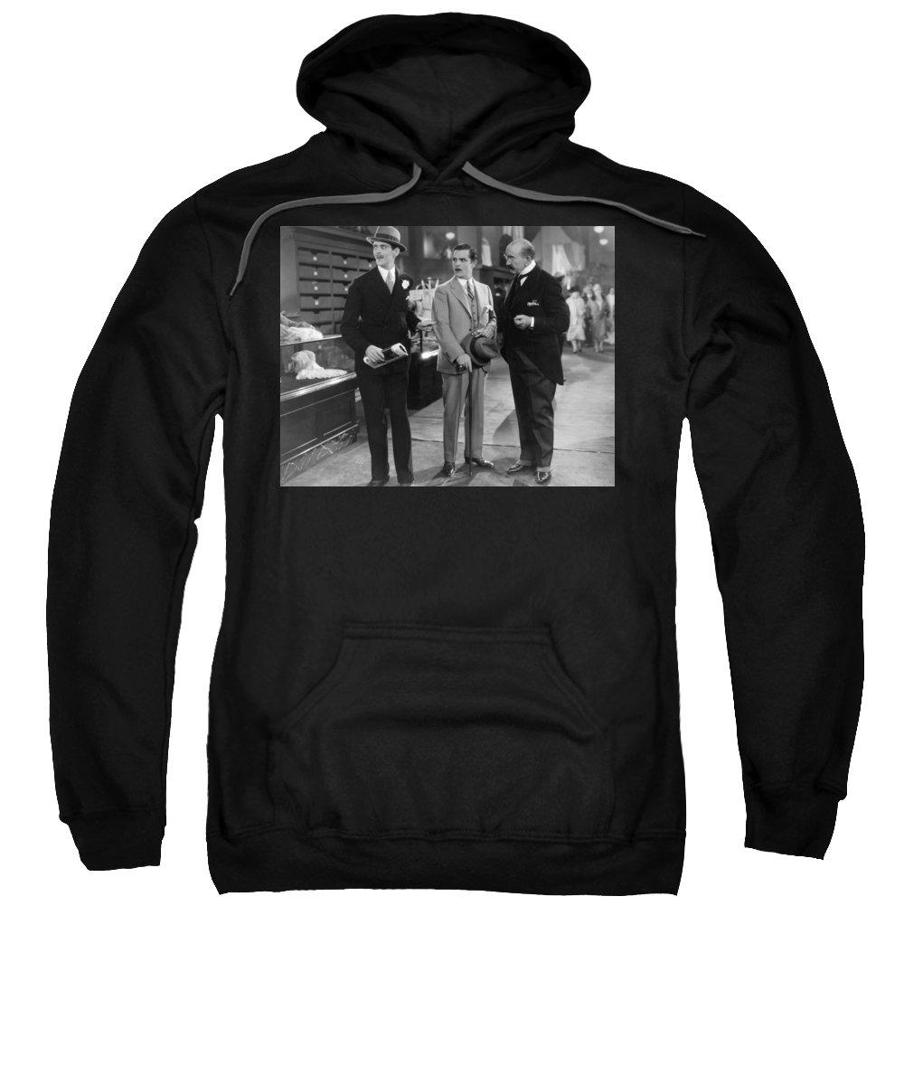 -ecq- Sweatshirt featuring the photograph Film Still: It, 1927 by Granger