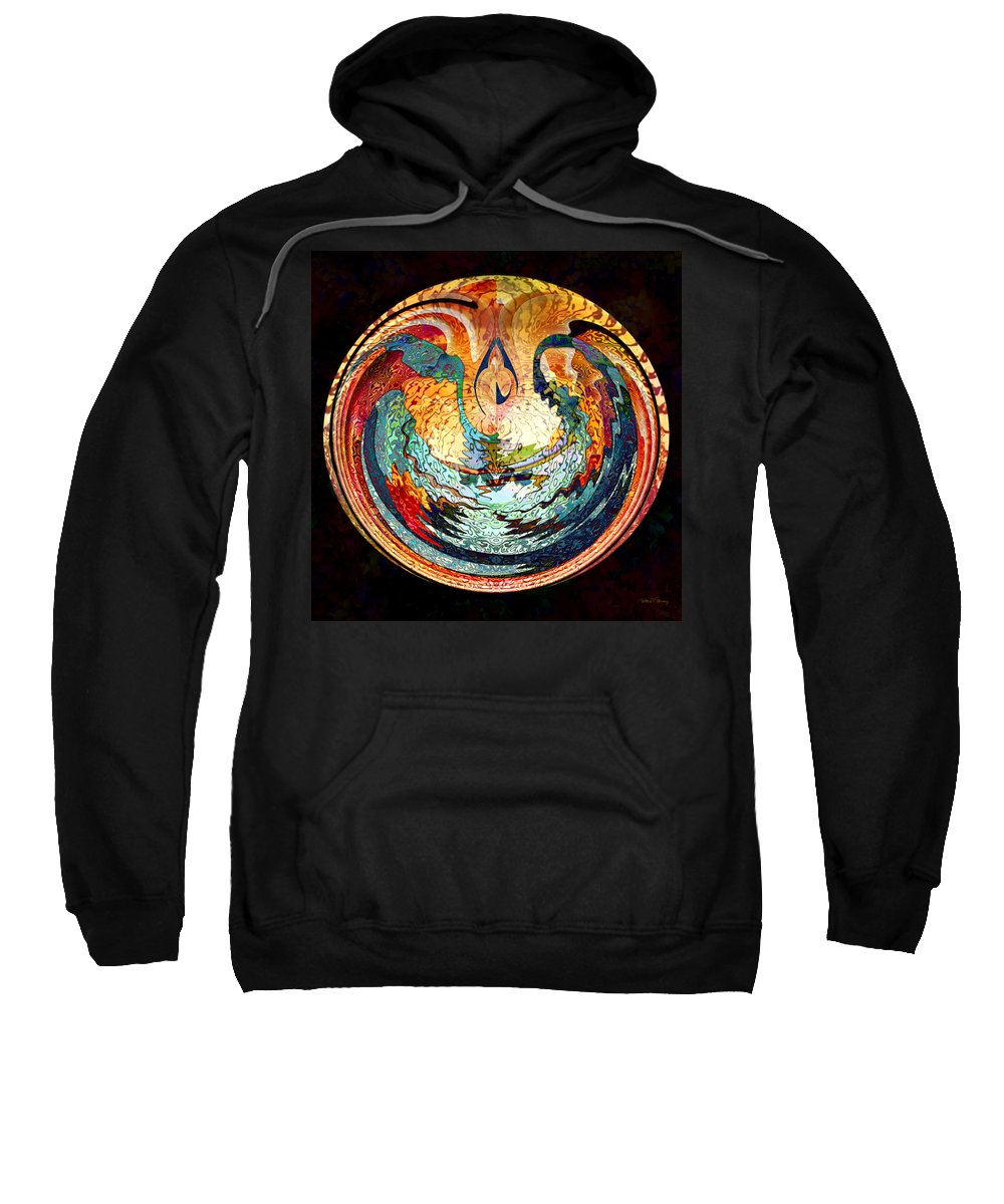 Fire Sweatshirt featuring the digital art Fire And Water by Barbara Berney