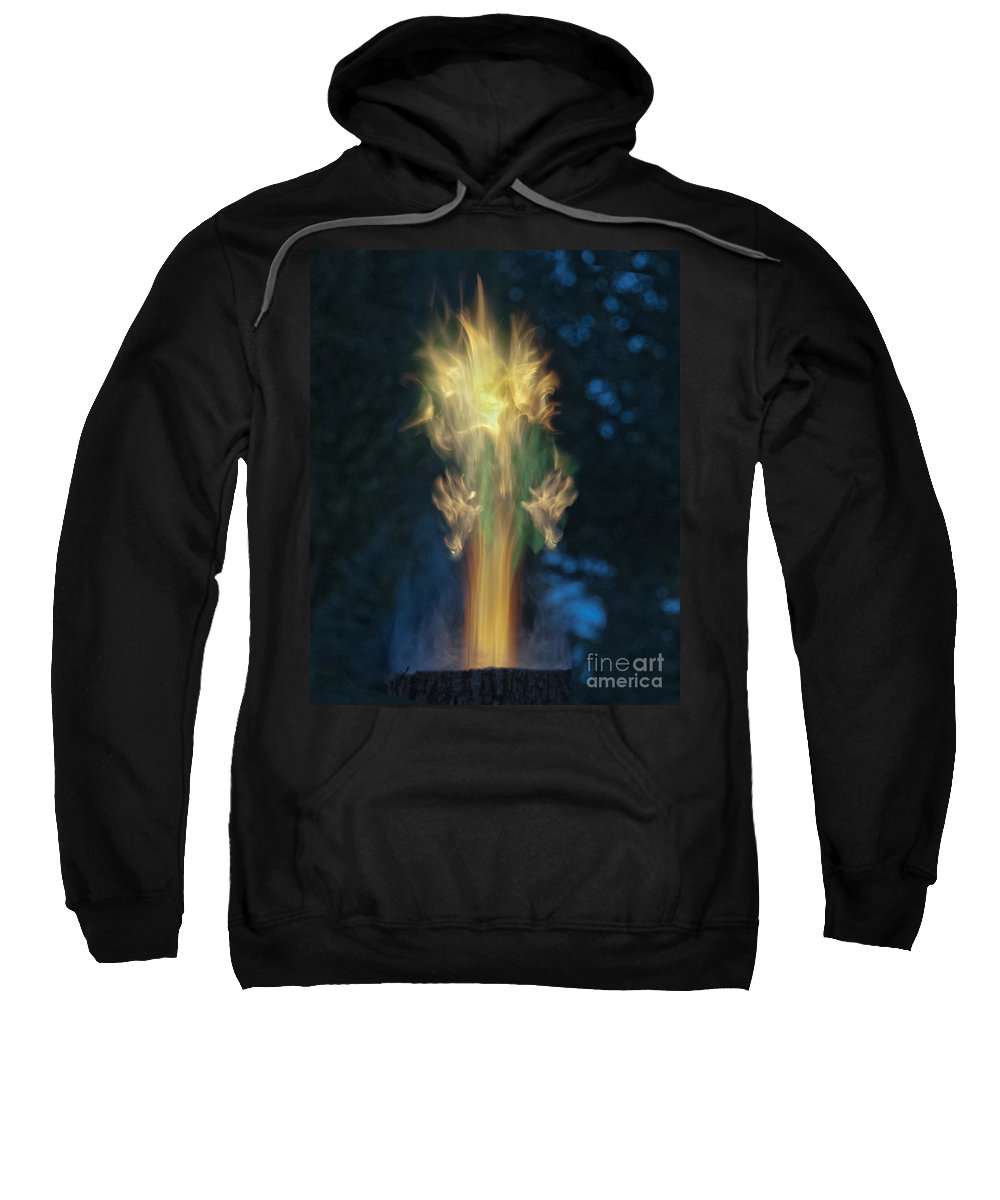 Fire Angel Sweatshirt featuring the photograph Fire Angel by David Arment