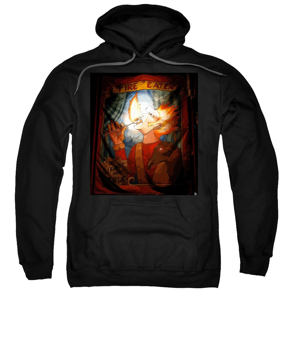 Art Sweatshirt featuring the painting Fire Eater by David Lee Thompson
