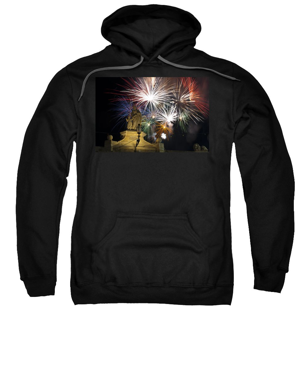 Fireworks Sweatshirt featuring the photograph Fire Saints by Focus Fotos