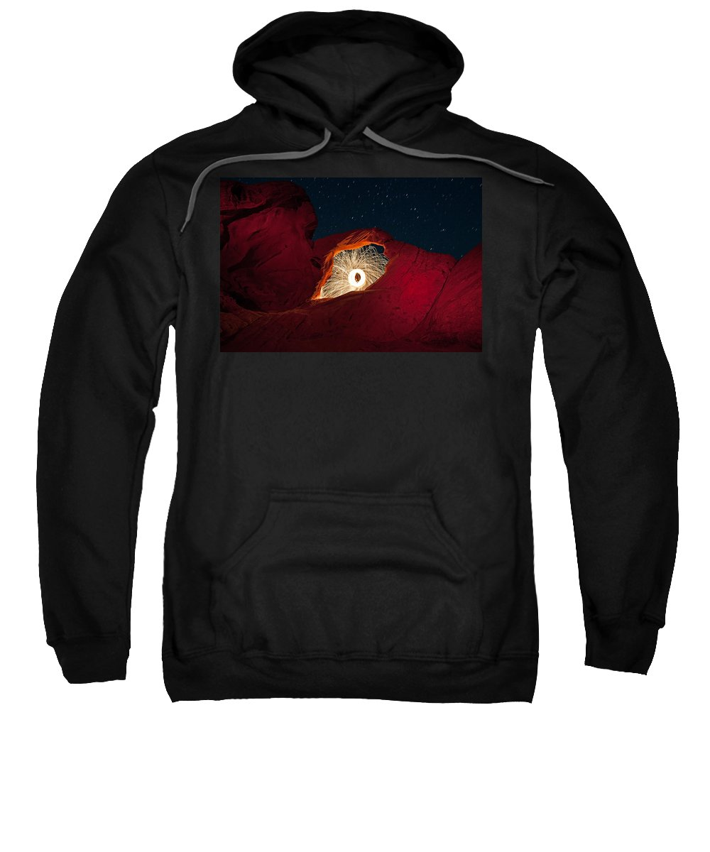 Arch Sweatshirt featuring the photograph Firearch by Rick Berk