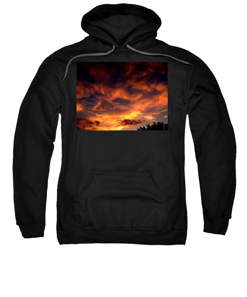 Sunset Sweatshirt featuring the photograph Fireclouds by David Weeks