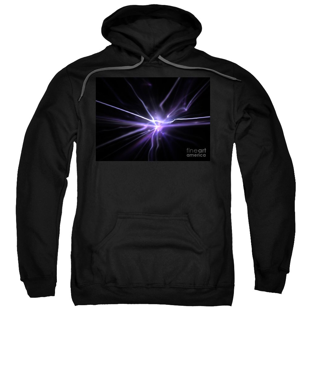 Abstract Sweatshirt featuring the digital art Firefly by Kim Sy Ok