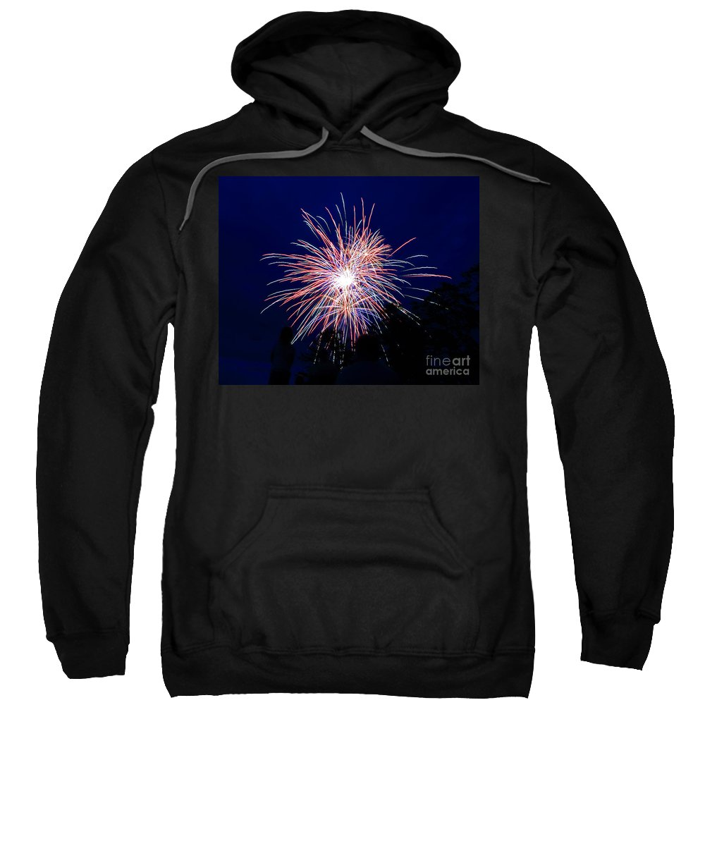 Firework Sweatshirt featuring the photograph Fireworks 1 by Lloyd Alexander