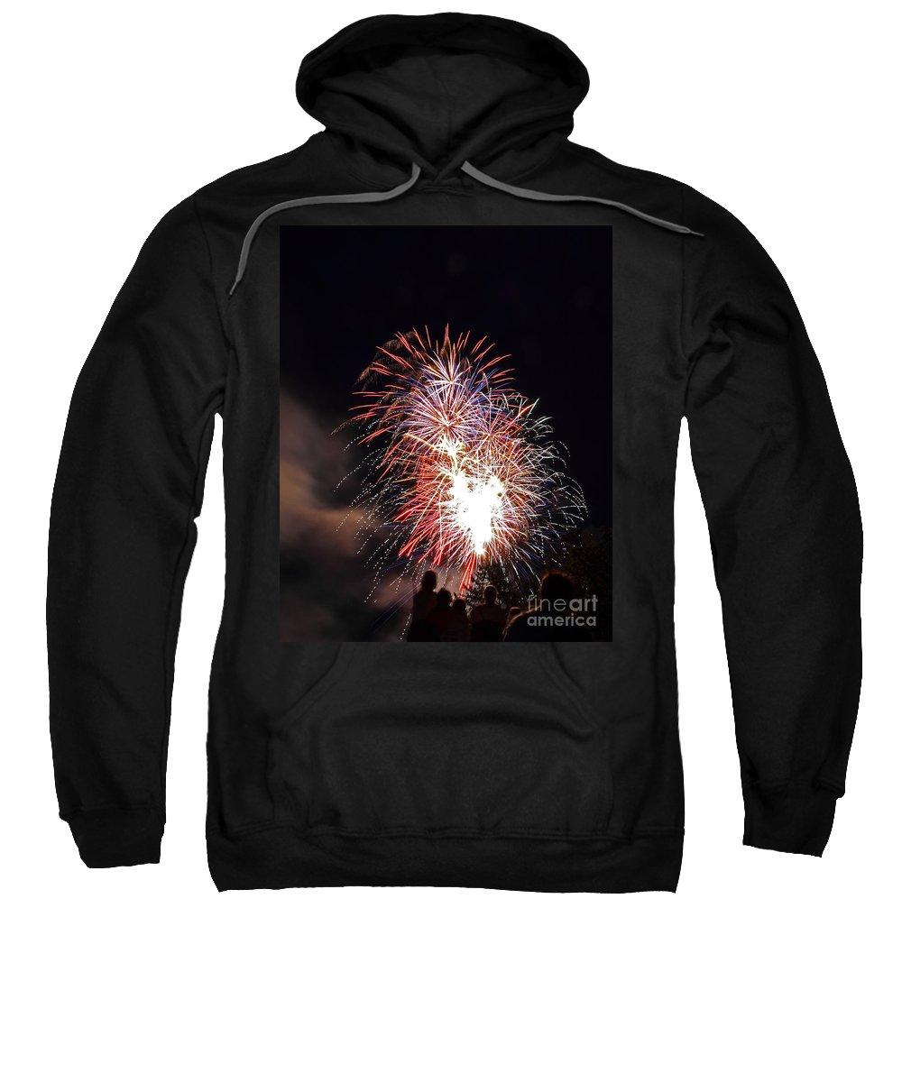 Firework Sweatshirt featuring the photograph Fireworks 3 by Lloyd Alexander