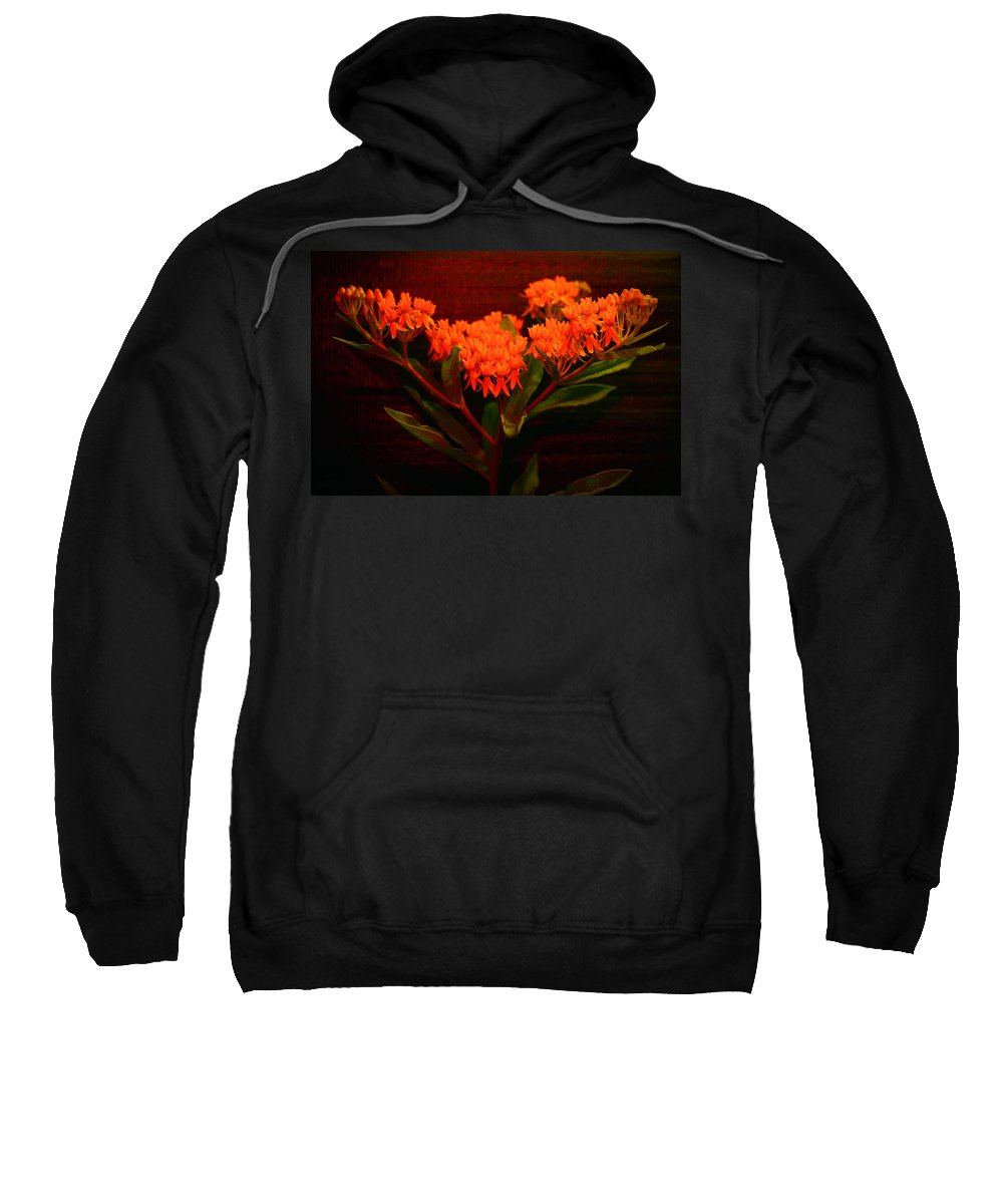 Still Life Sweatshirt featuring the photograph Flame by Ted M Tubbs