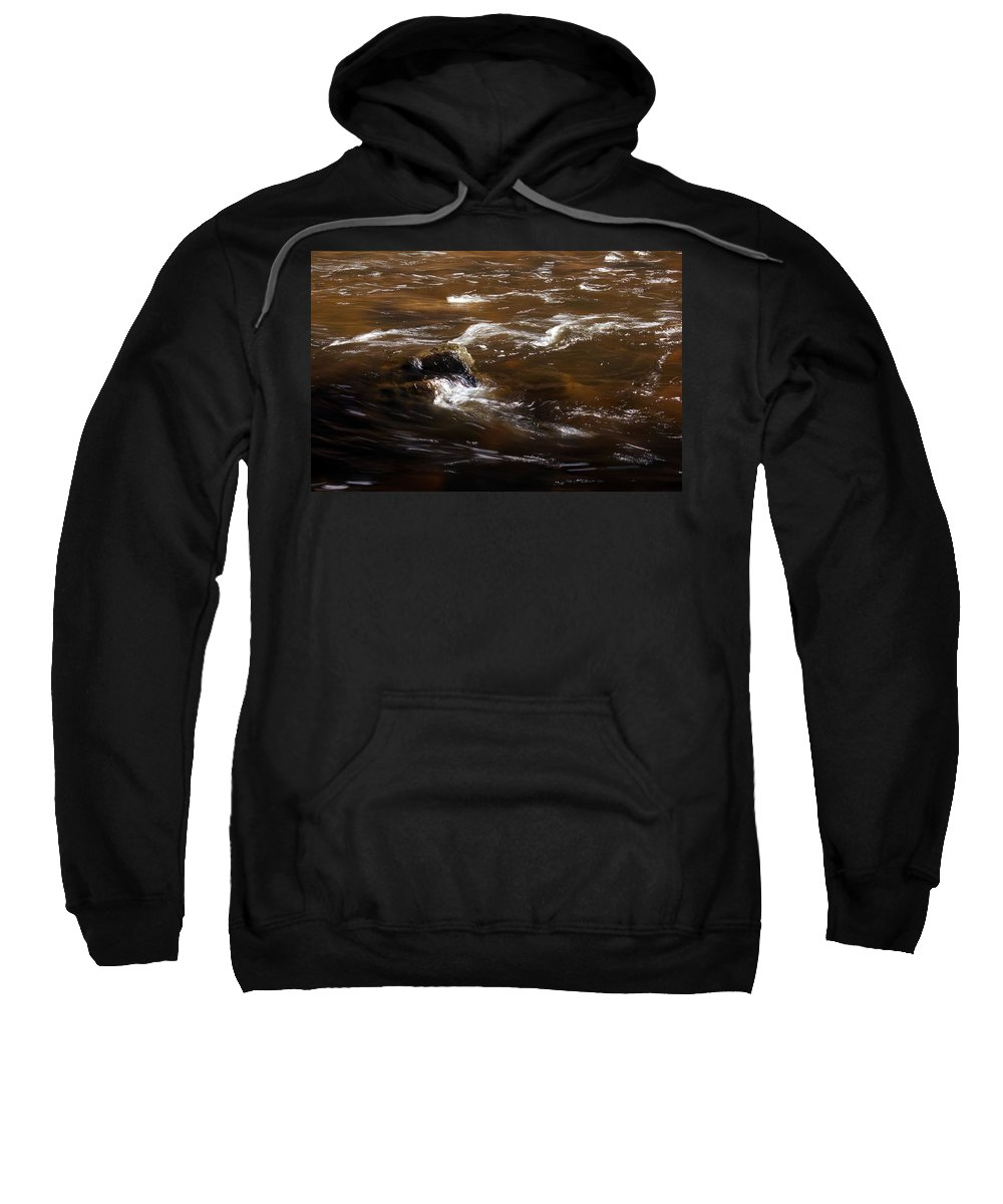 River Sweatshirt featuring the photograph Flow Of Thought by Skip Willits