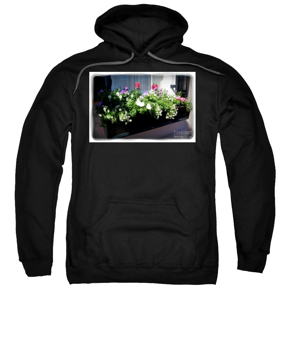 Flowers Sweatshirt featuring the photograph Flower Box 5 by Donna Bentley