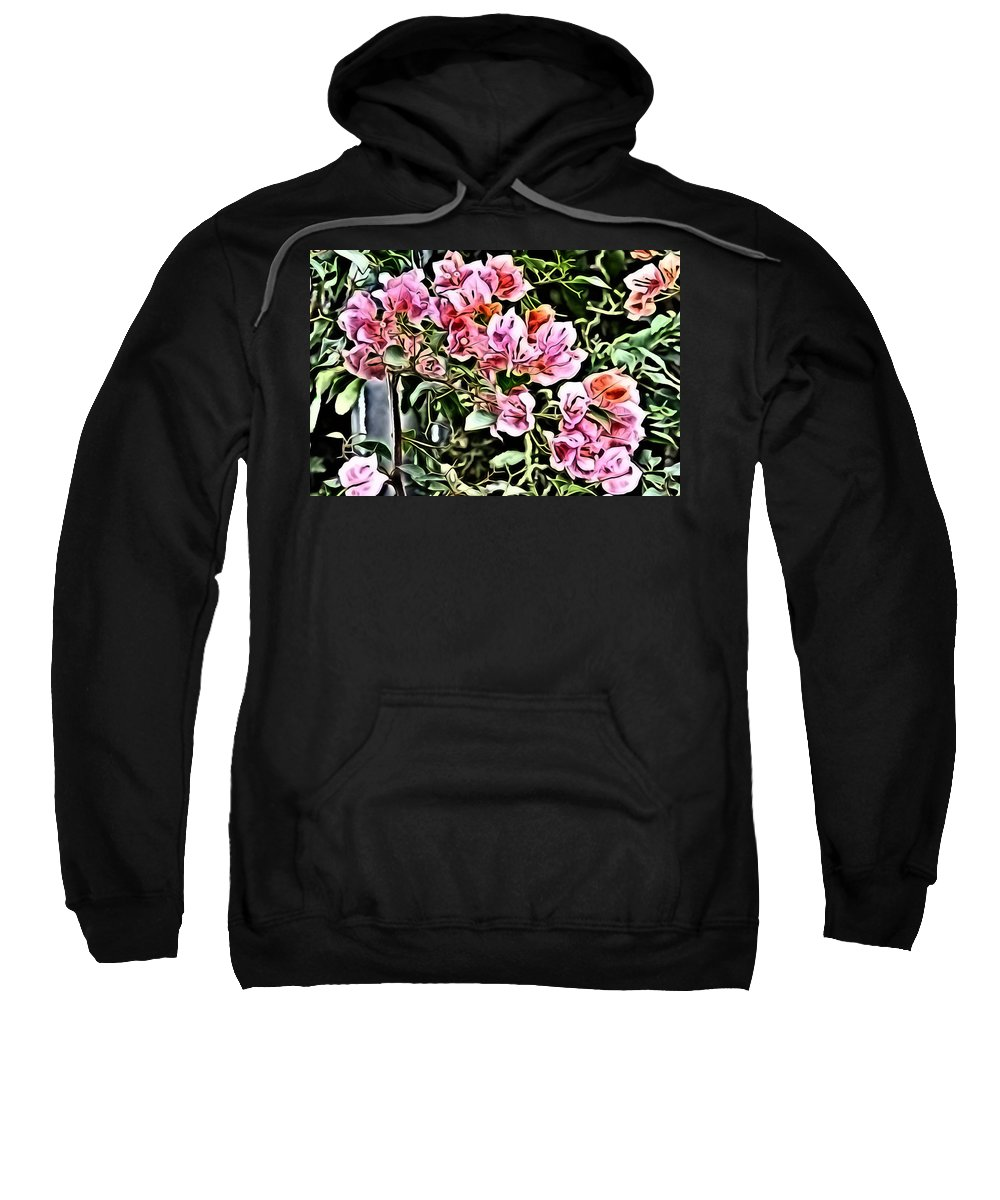 Metro Sweatshirt featuring the digital art Flower Painting 0003 by Metro DC Photography