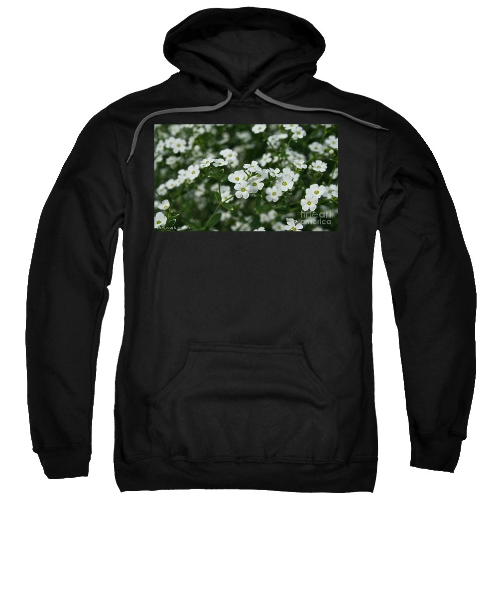 Outdoors Sweatshirt featuring the photograph Flowering Spurge by Susan Herber