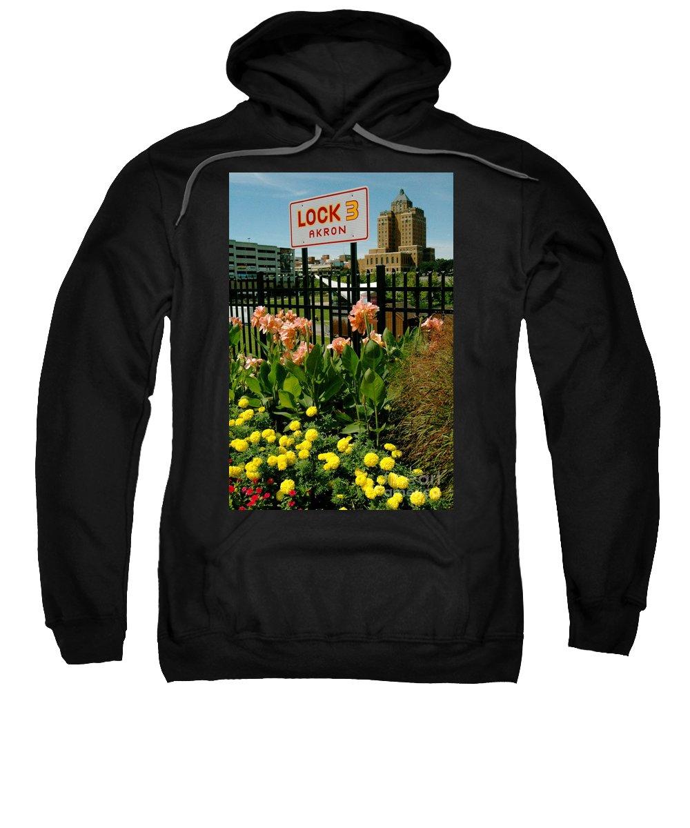 Akron Sweatshirt featuring the photograph Flowerscape by Trish Hale