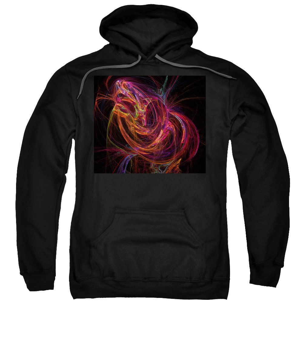 Energy Sweatshirt featuring the digital art Flowing Energy by Ricky Barnard