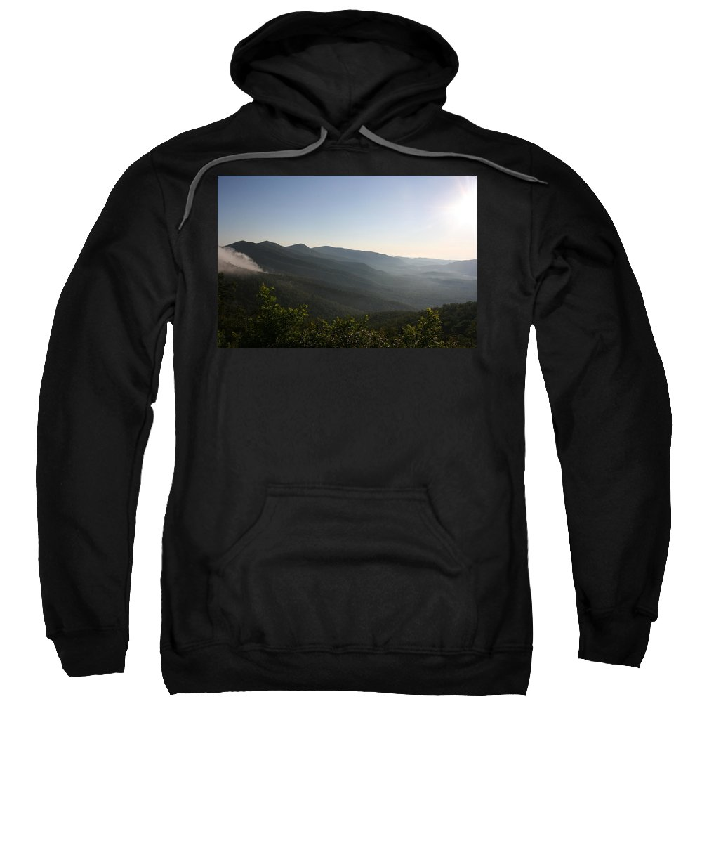 North Carolina Sweatshirt featuring the photograph Foggy Mountain by Stacy C Bottoms