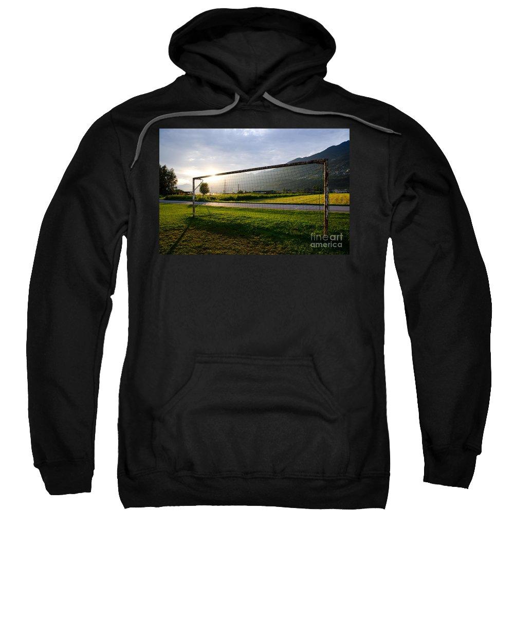 Football Sweatshirt featuring the photograph Football Goal by Mats Silvan