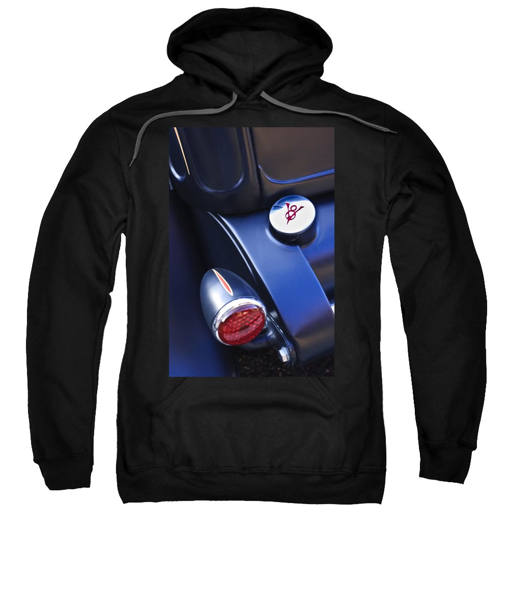 Ford Taillight And Gas Cap Sweatshirt featuring the photograph Ford V8 Taillight And Gas Cap by Jill Reger