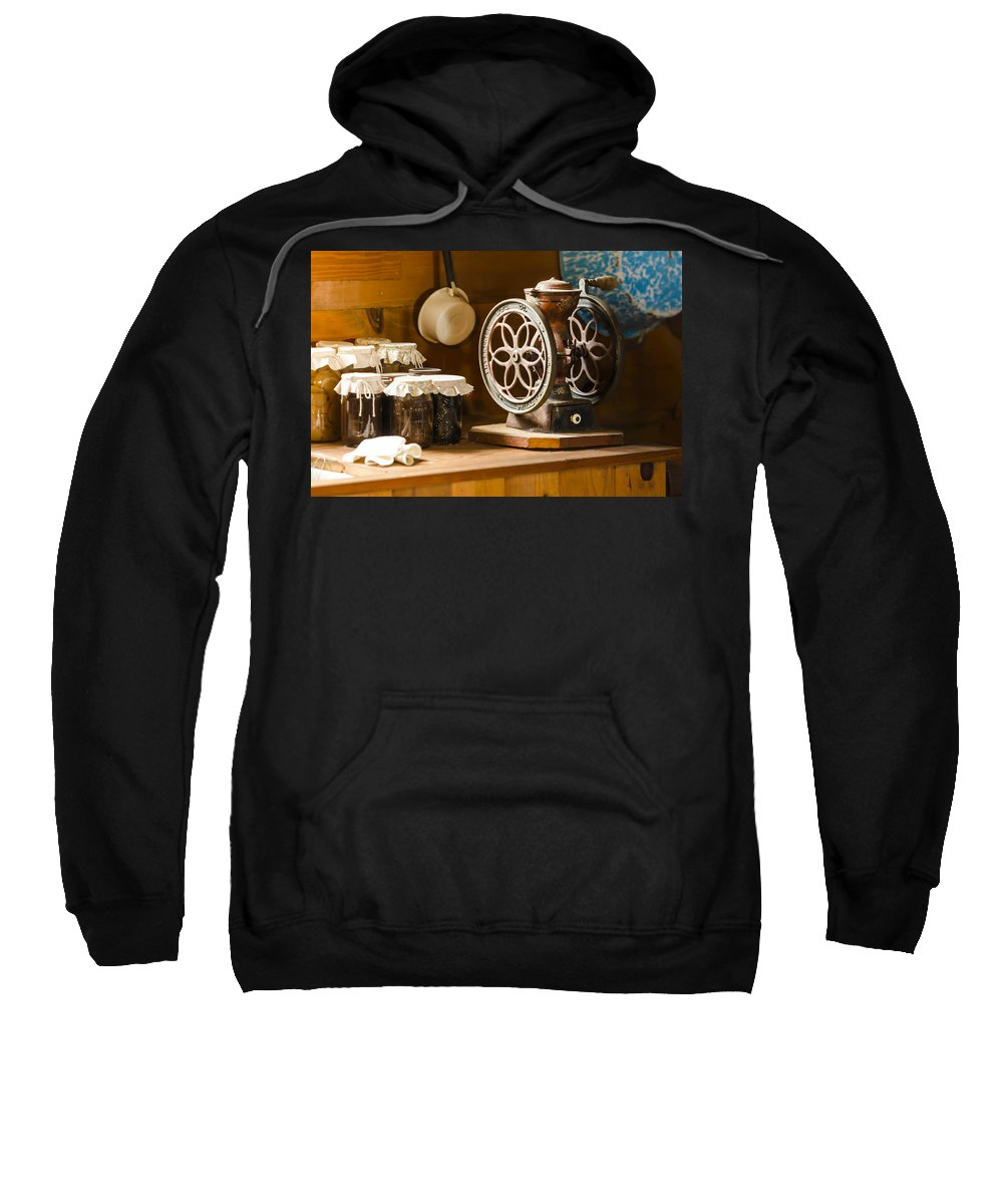 Kitchen Sweatshirt featuring the photograph Forgotten Kitchen Of Yesteryear by Carolyn Marshall