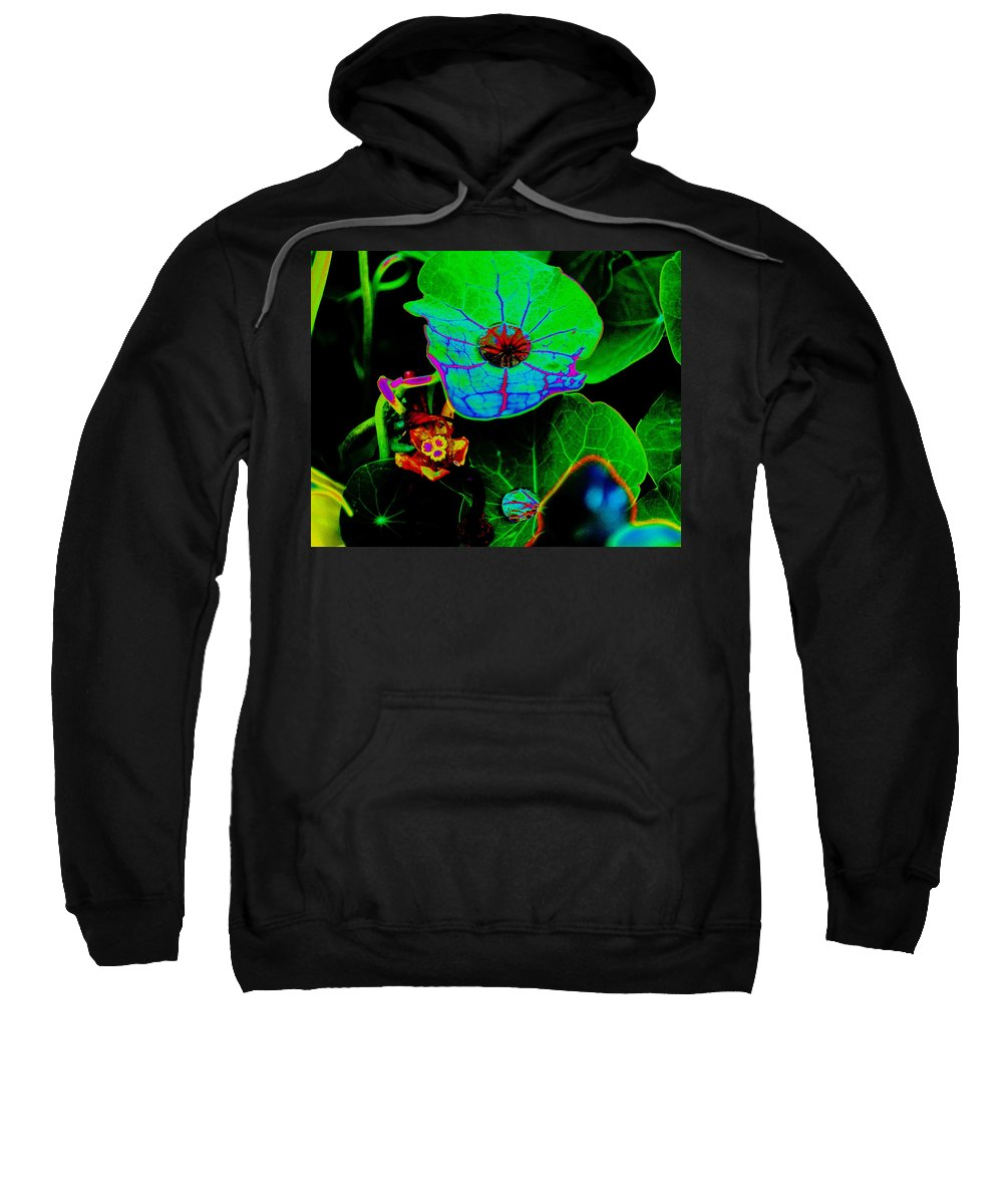 Art Sweatshirt featuring the photograph From The Psychedelic Garden by Ben Upham III