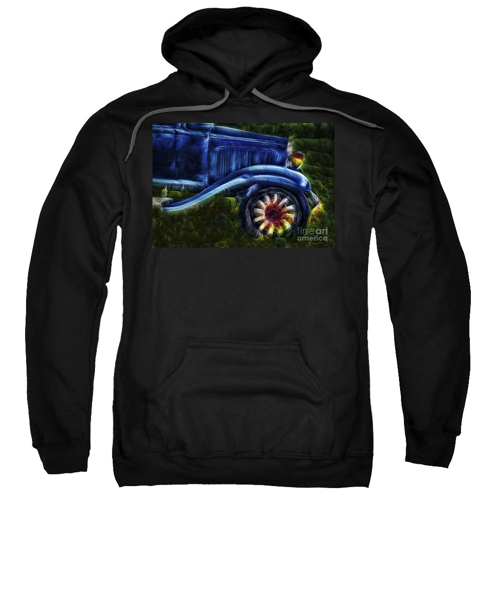 Cars Sweatshirt featuring the photograph Funky Old Car by Susan Candelario