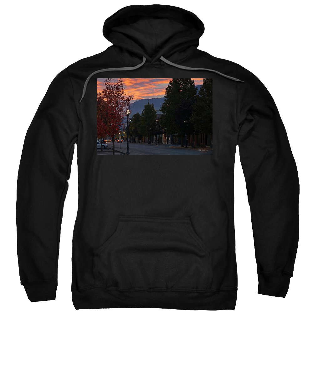 G Street Sweatshirt featuring the photograph G Street Sunrise In Our Town by Mick Anderson