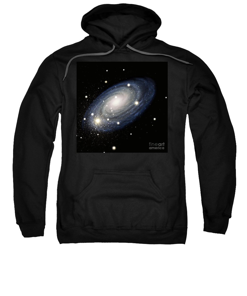 Science Sweatshirt featuring the drawing Galaxy by Atlas Photo Bank and Photo Researchers