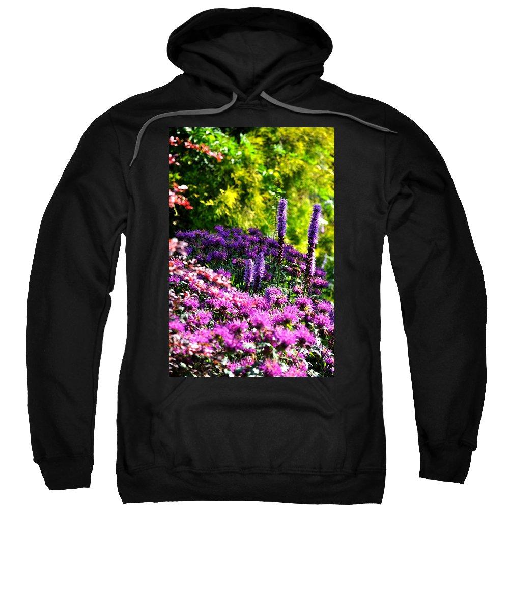 Garden Sweatshirt featuring the painting Garden Flowers 3 by Pol Ledent