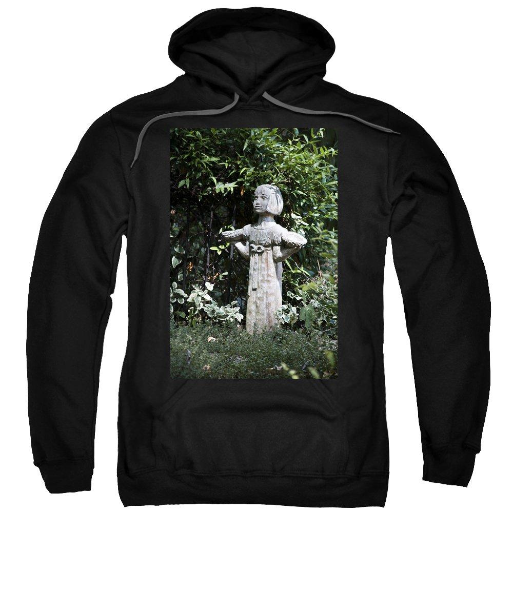 Garden Sweatshirt featuring the photograph Garden Statuary by Teresa Mucha