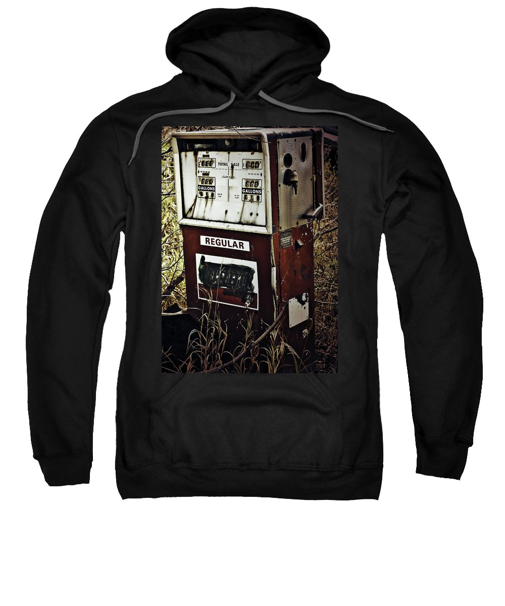 Street Photographer Framed Prints Sweatshirt featuring the photograph Gaspump by The Artist Project