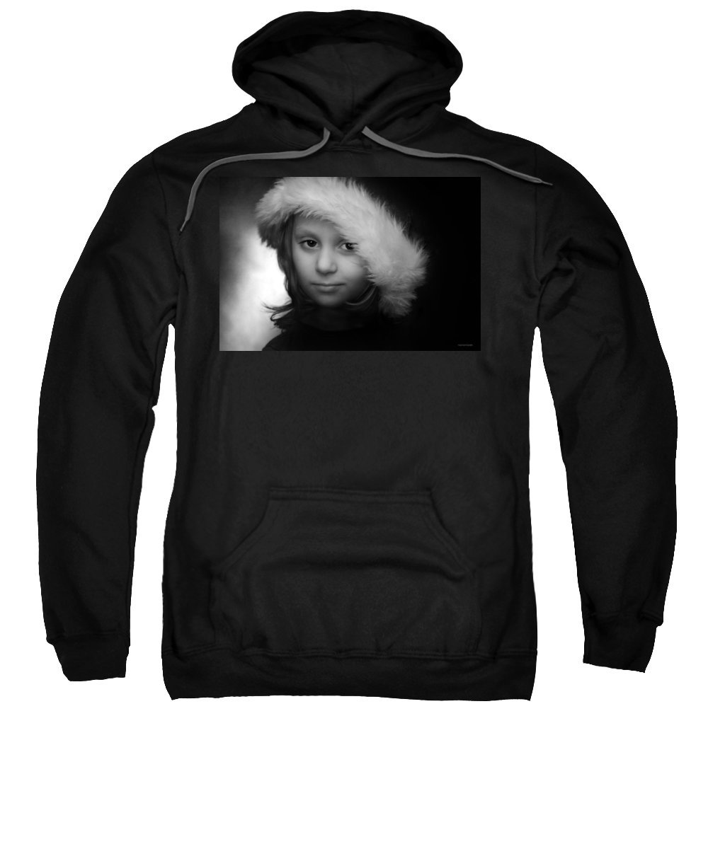 Portrait Sweatshirt featuring the photograph Girl With Hat by Ron Jones