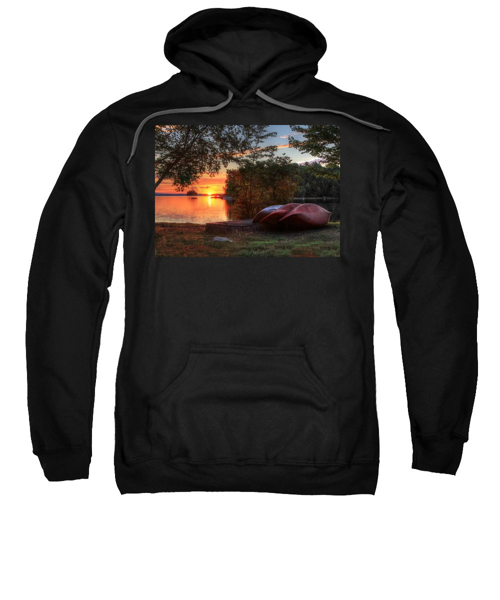 Canoe Sweatshirt featuring the photograph Give Me A Canoe by Lori Deiter