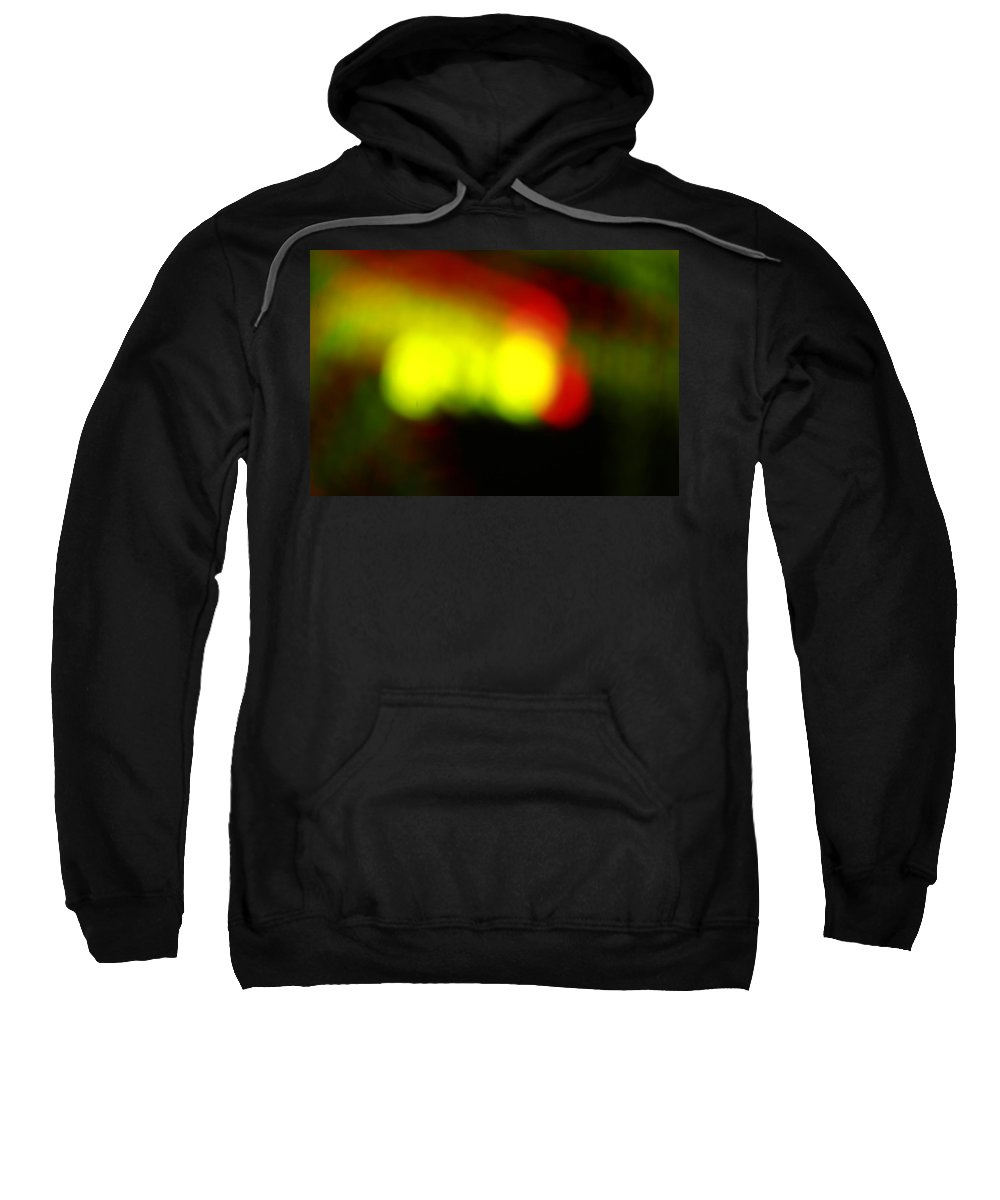 Light Sweatshirt featuring the photograph Glowing Orbs Of Yellow And Red by Mike M Burke