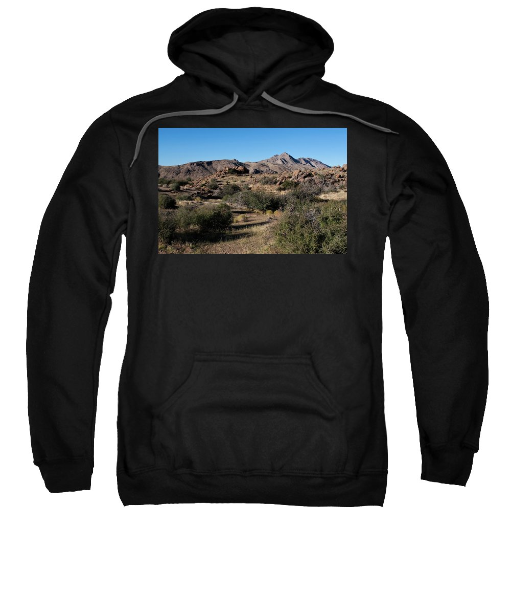 Gold Butte Region Sweatshirt featuring the photograph Gold Butte Tumbling Terrain by Lorraine Devon Wilke