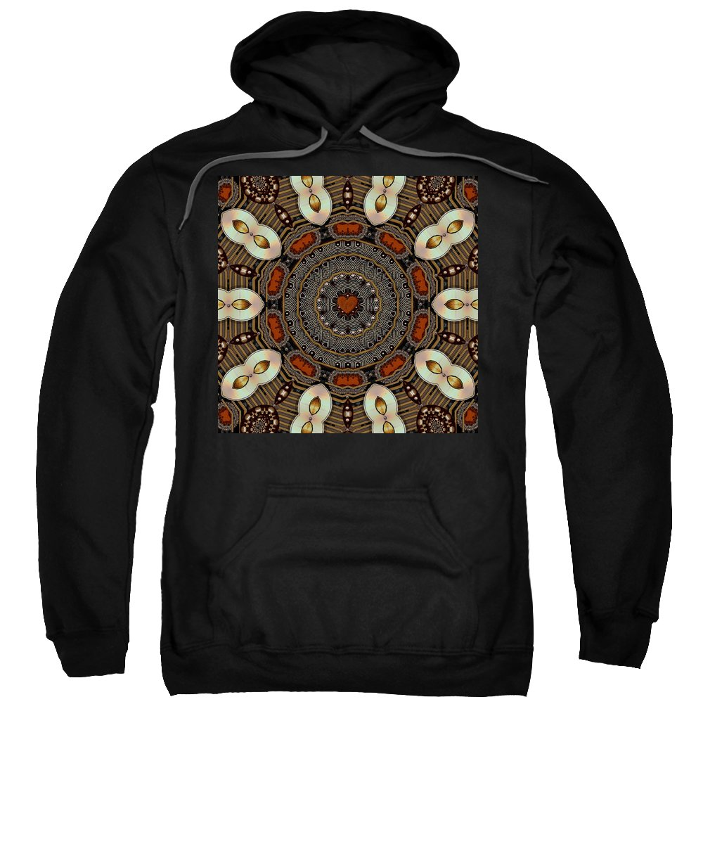 Flowers Sweatshirt featuring the mixed media Gold Flower Cookie by Pepita Selles