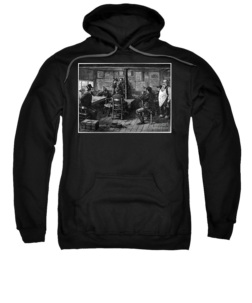 1887 Sweatshirt featuring the photograph Gold Rush: Miners, 1887 by Granger