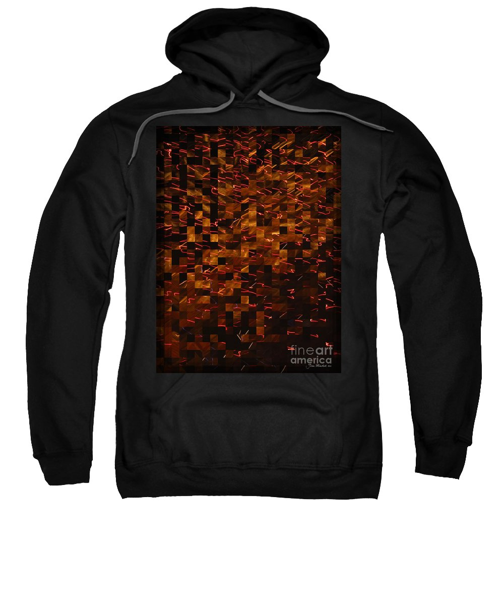 Golden Abstract Sweatshirt featuring the photograph Golden Abstract by Joan Minchak