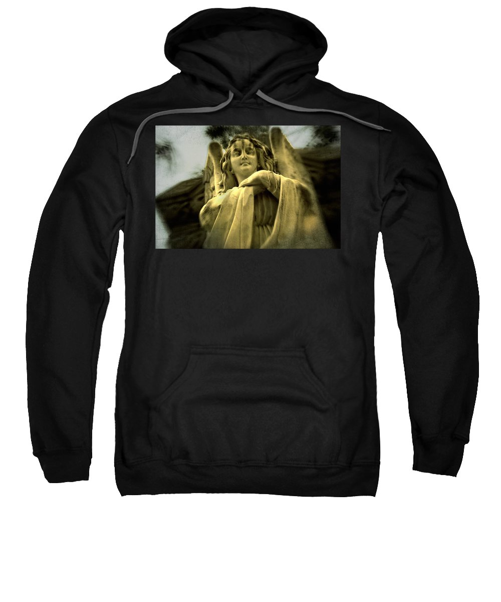Golden Angel Sweatshirt featuring the digital art Golden Angel by Diane Dugas