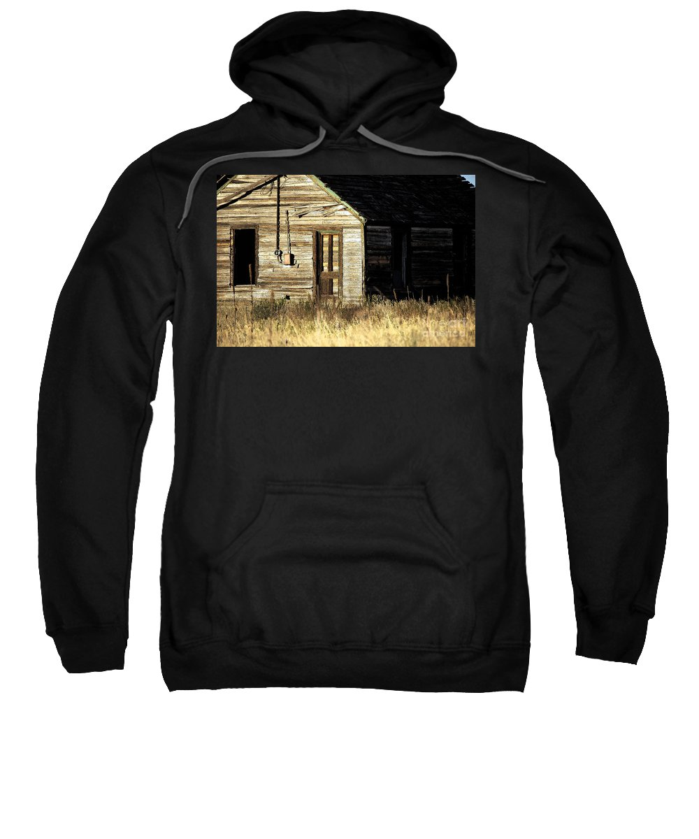 Dilapadated Sweatshirt featuring the photograph Gone by Anjanette Douglas