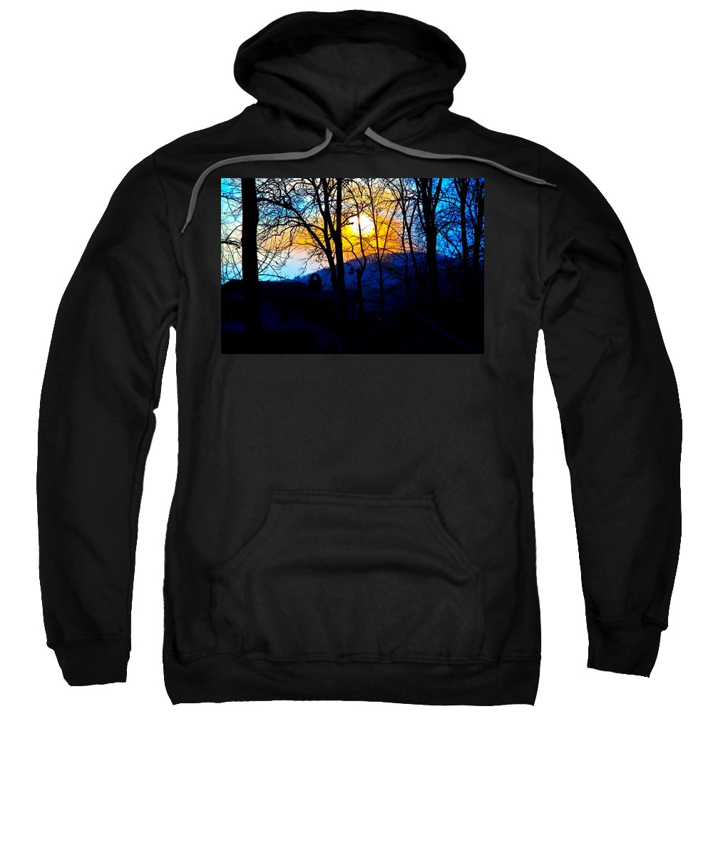 Abstract Sweatshirt featuring the photograph Good Evening by Susan Leggett