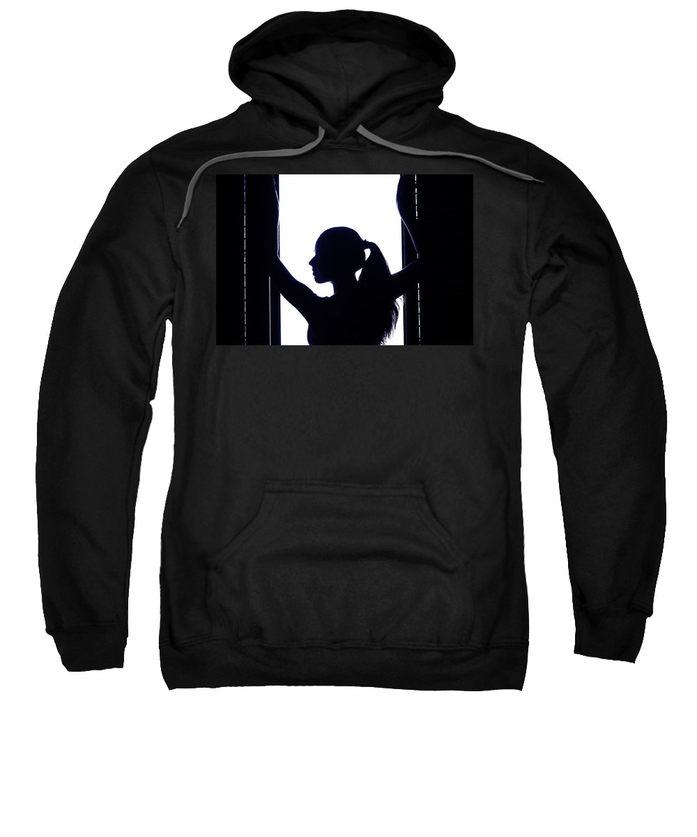 Love Sweatshirt featuring the photograph Graceful Silhouette by Jenny Rainbow