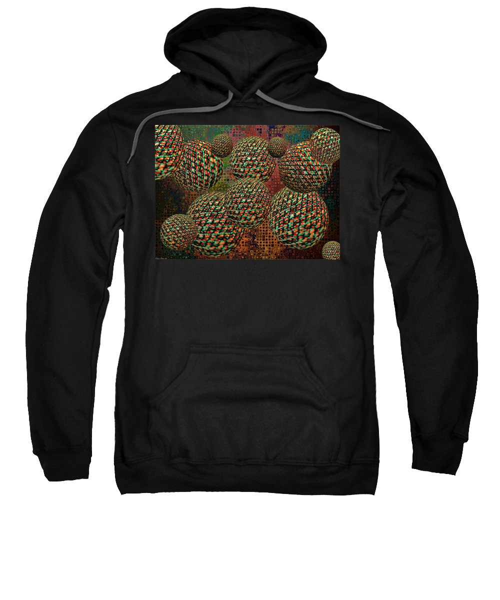 Abstract Sweatshirt featuring the digital art Gravity Chamber by Debbie Portwood