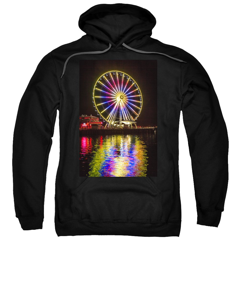 Seattle Sweatshirt featuring the photograph Great Wheel 189 by Mike Penney
