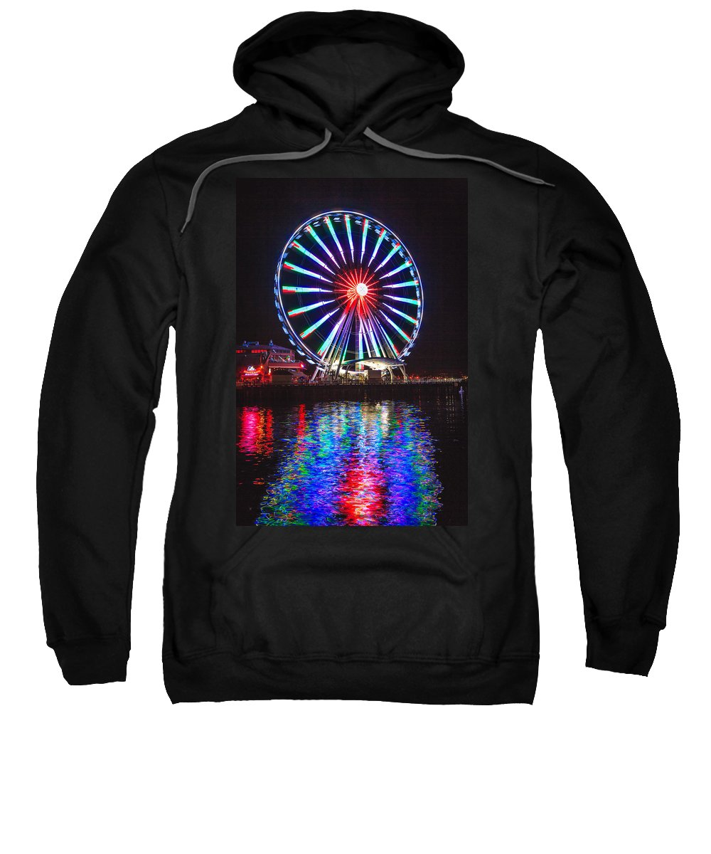 Seattle Sweatshirt featuring the photograph Great Wheel 199 by Mike Penney