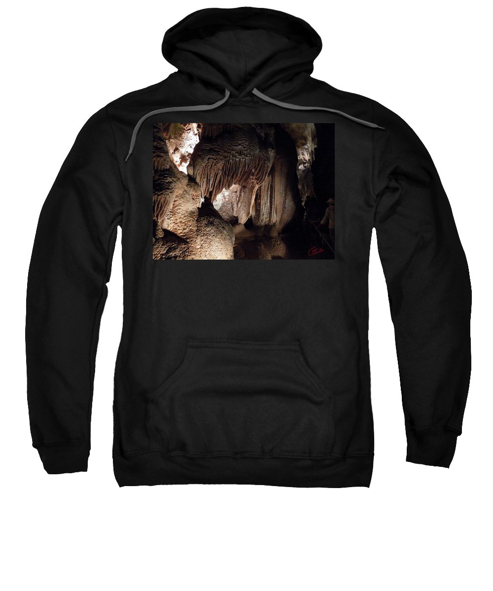 Colette Sweatshirt featuring the photograph Grotte Magdaleine Sout France In Ardeche by Colette V Hera Guggenheim