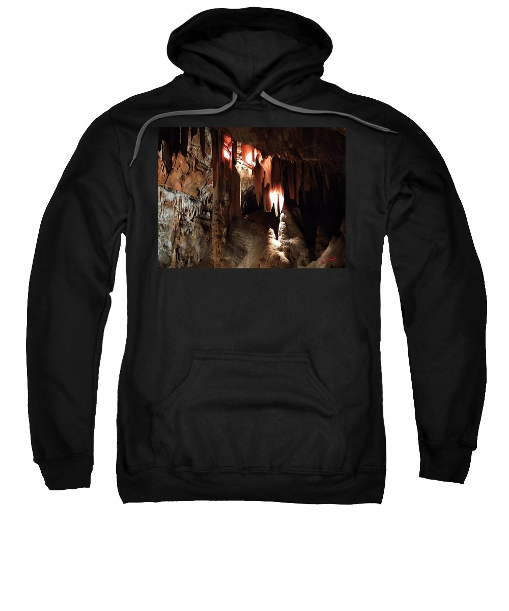 Colette Sweatshirt featuring the photograph Grotte Magdaleine South France Region Ardeche by Colette V Hera Guggenheim