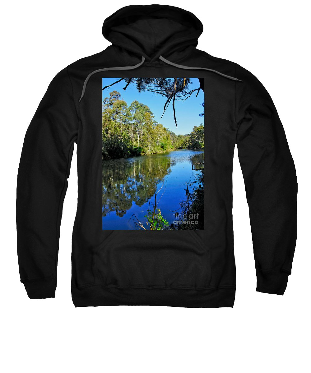 Photography Sweatshirt featuring the photograph Gums Along The River by Kaye Menner