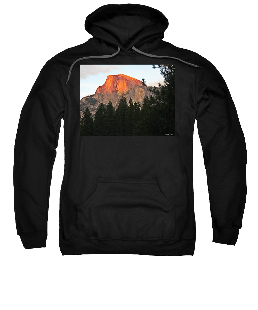 Half Dome Sweatshirt featuring the photograph Half Dome Alpenglow by Heidi Smith