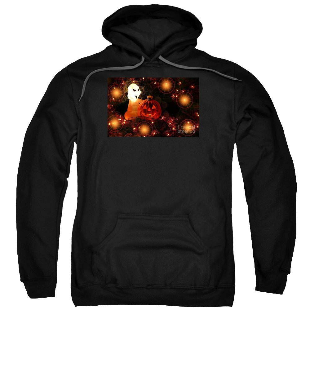 Halloween Sweatshirt featuring the photograph Halloween Magic by Living Color Photography Lorraine Lynch