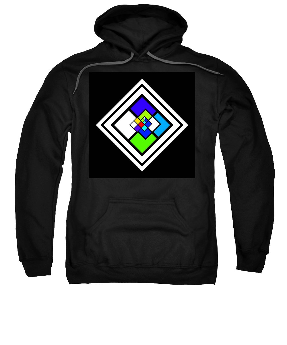 Cote Sweatshirt featuring the painting Harlequin Tile by Charles Stuart
